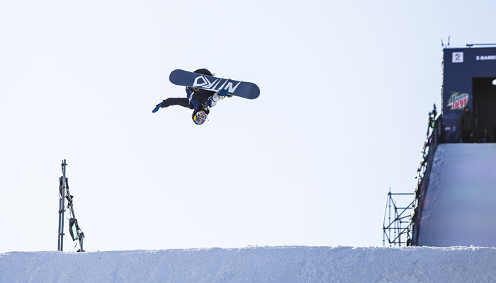 Marcus Kleveland performs during Snowboard Big Air qualification at Winter X 2016 in Oslo, Norway February 26, 2016 // Mats Grimsæth / Red Bull Content Pool // P-20160226-00565 // Usage for editorial use only // Please go to www.redbullcontentpool.com for further information. //
